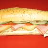 Šunková bageta – salát, rajčata, okurek, šunka, sýr                55,-