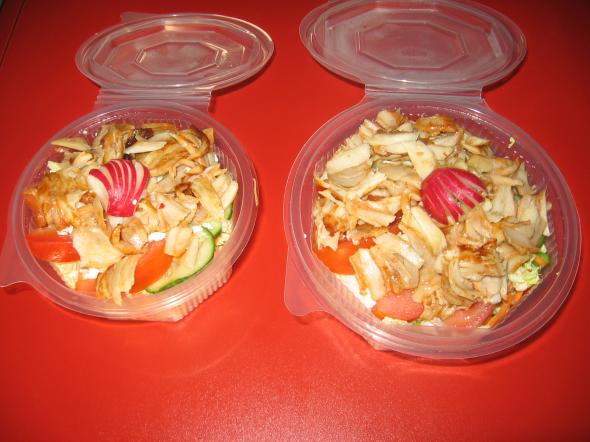 Čerstvá zelenina mix + kebab             70,-/80,-