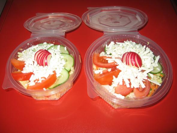 Česrtvá zelenina mix + sýr                               60,-/70,-